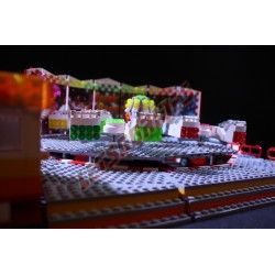 """LetsGoRides - Break Dance, Accueil, Motorized reproduction of the fairground attraction 'Break Dance"""" made with Lego. Foldable"""