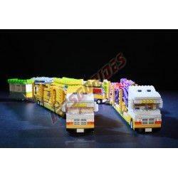 """LetsGoRides - Caterpillar, Manège complet, Reproduction motorisée de l'attraction foraine """"Caterpillar"""" en Lego Transportable su"""