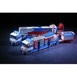 """LetsGoRides - VerticalSwing, Manège complet, Reproduction motorisée de l'attraction foraine """"Vertical Swing"""" en Lego Transportab"""