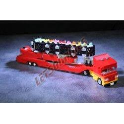 """LetsGoRides - Zipper, Manège complet, Reproduction motorisée de l'attraction foraine """"Zipper"""" en Lego Transportable sur 2 remorq"""