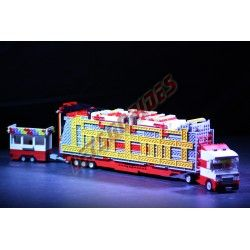 LetsGoRides - TechnoPower, Motorized reproduction of the fairground attraction 'Techno Power' made with Lego. Foldable on one t