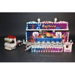 """LetsGoRides - X-Factory, Reproduction motorisée de l'attraction foraine """"X Factory"""" en Lego Transportable sur une remorque. - Jo"""
