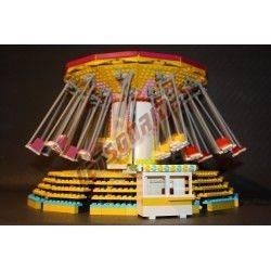 """LetsGoRides - Wave Swinger, Manège complet, Reproduction motorisée de l'attraction foraine """"Wave Swinger"""" en briques Lego Transp"""