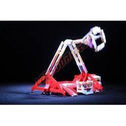 """LetsGoRides - FreakOut, Manège complet, Reproduction motorisée de l'attraction foraine """"FreakOut"""" en LEGO. Transportable sur une"""